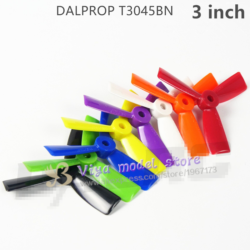 100 pairs DALPROP Dynamic Balancing T3045BN  3-inch mini multi-rotor 3 blades special propeller for DIY FPV racing mini drone130 dalprop t5040 v2 high end dynamic balancing propellers fpv pc propeller cw ccw for qav250 5 inch 3 leaf blades excellent balance