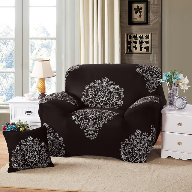 Universal 1/2/3/4 Seat sofa cover Printed couch cover