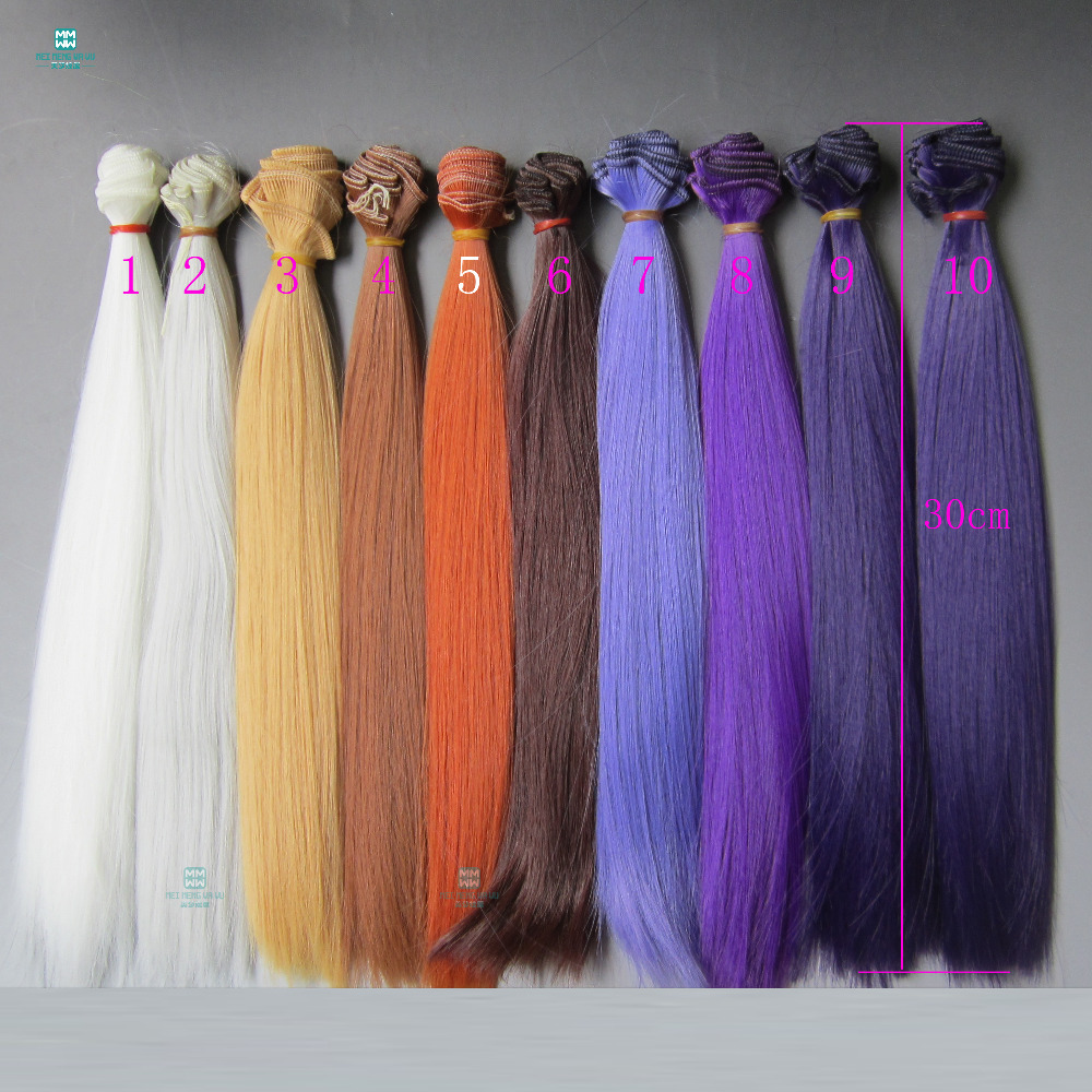 30cm*100cm Straight hair for 1/3 1/4 BJD/SD doll DIY High-temperature dolls wigs beioufeng 1 8 bjd sd doll wigs for dolls high temperature wire short wigs straight synthetic doll hair for dolls accessories