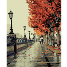 1 PCS 40*50 CM DIY Digital Painting The Autumn Of Love Hand-painted Living Room European Style Flowers Hot Sale Free Shipping