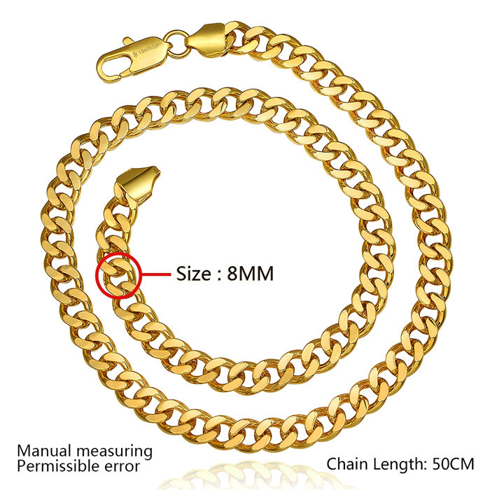 Charming New Popular Fashion Fake Gold Chain Necklace For Mens ...