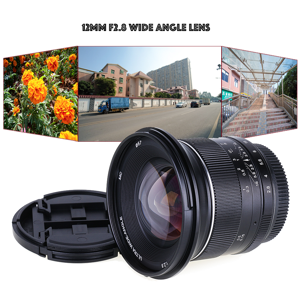 12mm f/2.8 Wide Angle manual Fixed Lens for canon ef-m eosm/m3/m5/m10 mirrorless camera free shipping