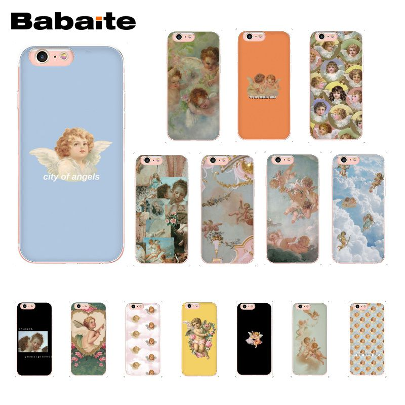 Babaite Renaissance angels coque de téléphone pour iphone 11 Pro 11Pro Max 8 7 6 6S Plus X XS MAX 5 5S SE XR