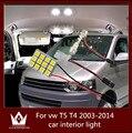 Guang Dian luz conduzida da luz interior do carro cúpula luz vaidade luva passo tronco carga kit lâmpada T10 festão para vw T5 T4 2003-2014