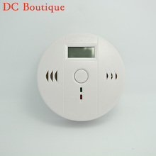 (1 PCS) LCD Display CO Carbon Monoxide Poisoning Sensor Monitor Portable and Compact Alarm Detector Home Security Stand Alone