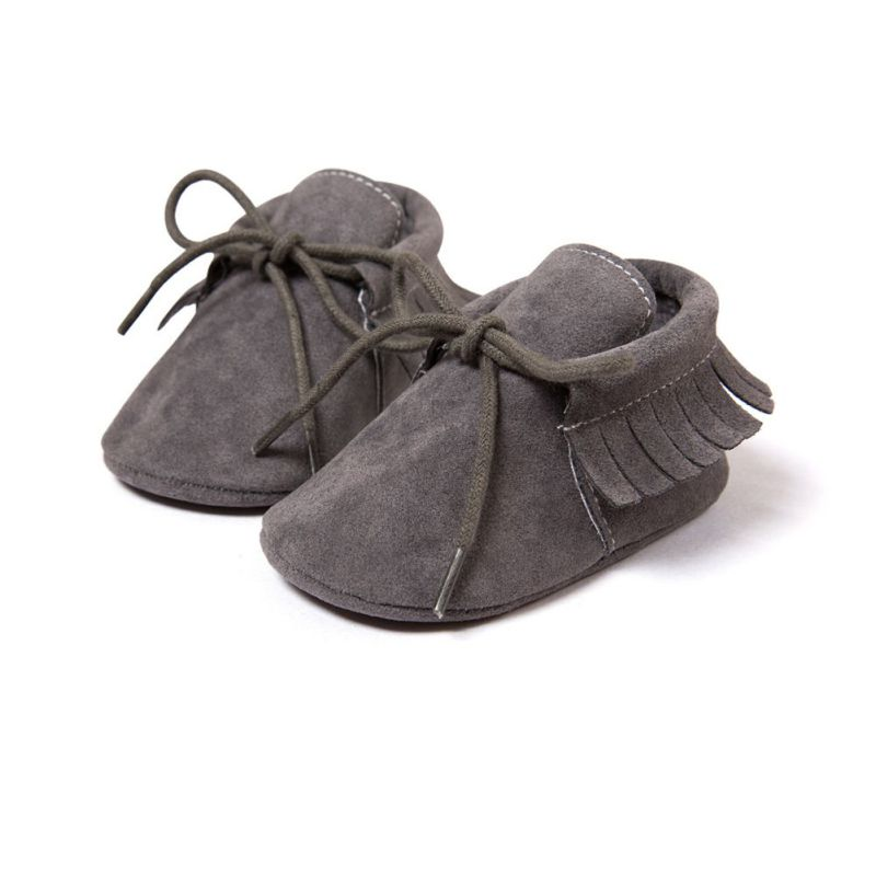 Baby Boy Girl Baby Moccasiner Bløde Sko Fringe Soft Soled Non-slip Fodtøj Crib Sko Newborn First Walkers Sko