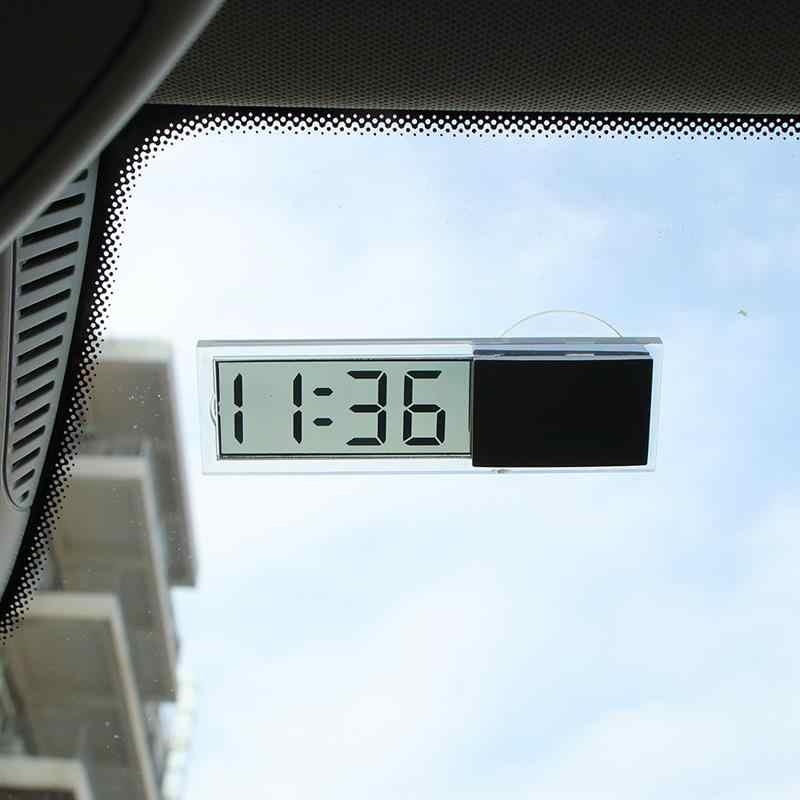 LCD Car Digital Window Clock On The Window Celsius Fahrenheit High Quality Car Digital Thermometer Ornament Accessories