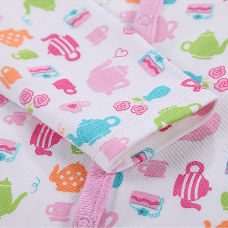 0-12 M Baby Romper Long Sleeve Pink Stripped 100% Cotton Baby Jumpsuit Newborn Baby Girl Clothes Infant Clothing Bebe Overall (9)