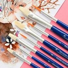 все цены на 4Pcs/set Watercolor Gouache Paint Brushes Pens Set Different Shape Round Pointed Tip Nylon Hair Wood Handle Brush Art Supplies онлайн