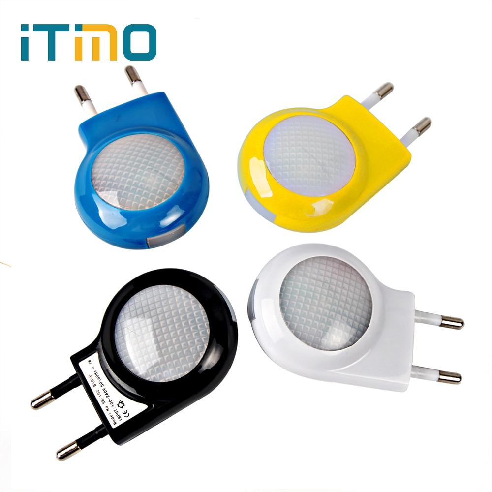 Itimo AC 100 В-240 В Мини светодиодный ночник Авто Сенсор ЕС США Plug Детская Спальня лампа аварийной ситуации smart Освещение Управление Звездная ночь