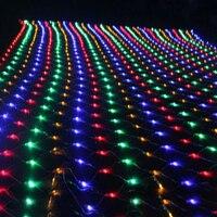 Oferta BEIAIDI 8M X 10M 2600 red LED Cadena de luz exterior para fiesta de Navidad de