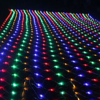 BEIAIDI 8MX10M 2600 LED Net Mesh String Light Outdoor New Year Christmas Party Light String Whaterproof Curtain Fairy Garland