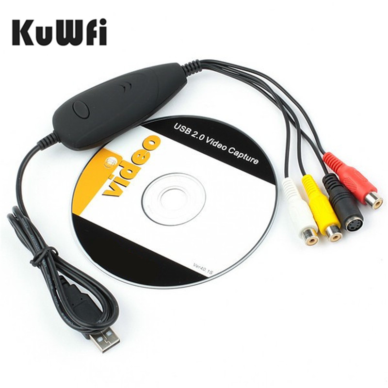 Original USB Audio Video Grabber Capture Convert Analog Video From VHS Video Recorder Camcorder DVD Can Win10 Win8