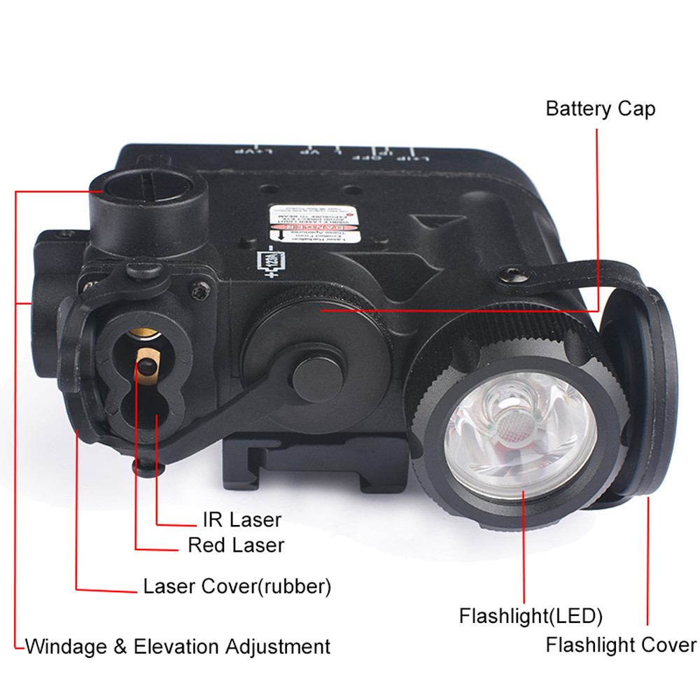 Image 2 - WADSN Tactical LED Flashlight Airsoft IR And Red Laser DBAL MKII Multifunction DBAL D2 Battery Case WEX328 Softair Weapon Lights-in Weapon Lights from Sports & Entertainment