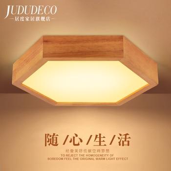 Japan stijl houten LED plafondlamp voor eetkamer keuken bed kamer lamp E27 110-240 v