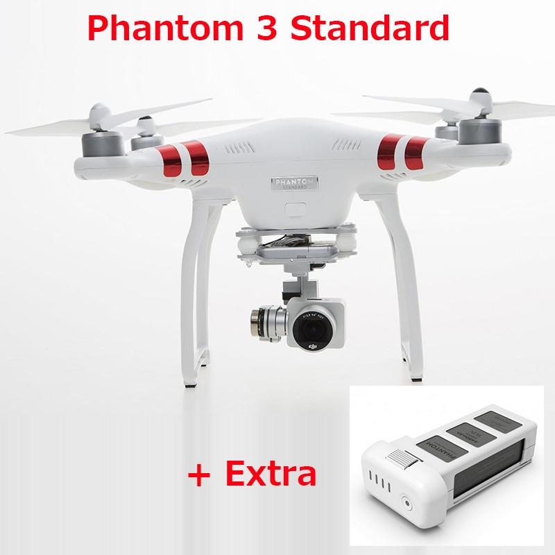 (Get an extra batteries) Original DJI Phantom 3 Standard FPV Drone With 12MP Camera Shoots 2.4K Video RC Quadcopter RTF