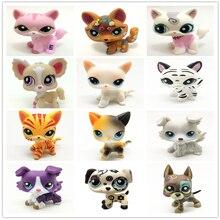 El nuevo juguete raro de la tienda de mascotas Lps envío gratis zorro gran oreja corta gran colección Dane 41 estilo de pie niños mejores regalo