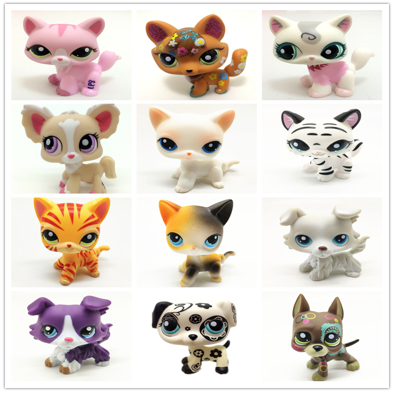 The New Rare Lps Pet Shop Toy Free Shipping Fox Big Ear Shorthair Great Dane Collection 41 Style Standing Children Best Gift