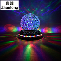 Voice Control RGB LED Stage Lamps Crystal Magic Ball Sound Control Laser Stage Effect Light Party