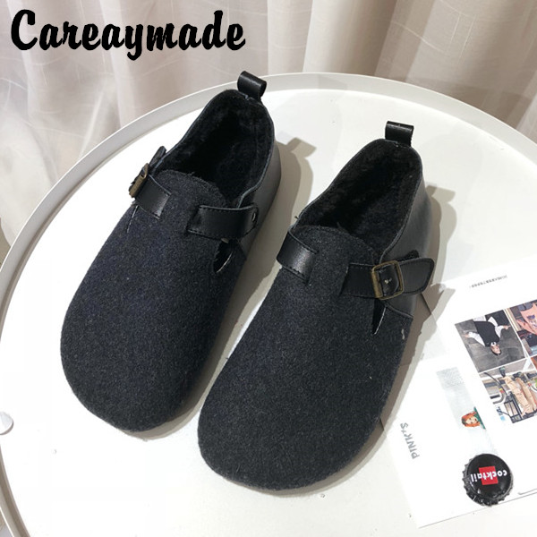 Careaymade-New,2019 Japanese students pure handmade shoes, women genuine   leather   and Cow   suede   the retro art mori girl shoes