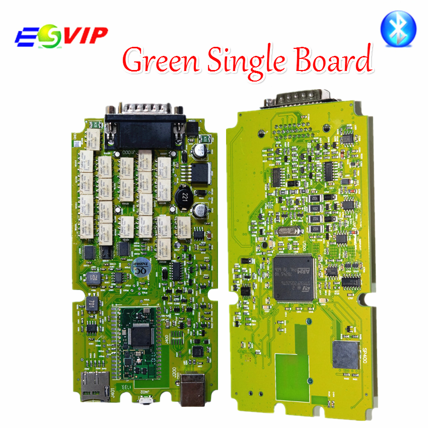 New arrival Green Single Board TCS CDP PRO PLUS +Generic 3 in 1 New NEC Relays bluetooth 2016.00 Newest Diagnostic tool Scanner