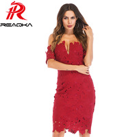 2018 New Listing Summer Vintage Wine Red Lace Dress Women Sexy Strapless Backless Slim Mini Sundress Evening Party Dress Vestido