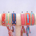 Gold Plated Metal Chain Friendship Bracelet Handmade Woven Rope String Cotton Friendship Bracelets For Women And Men