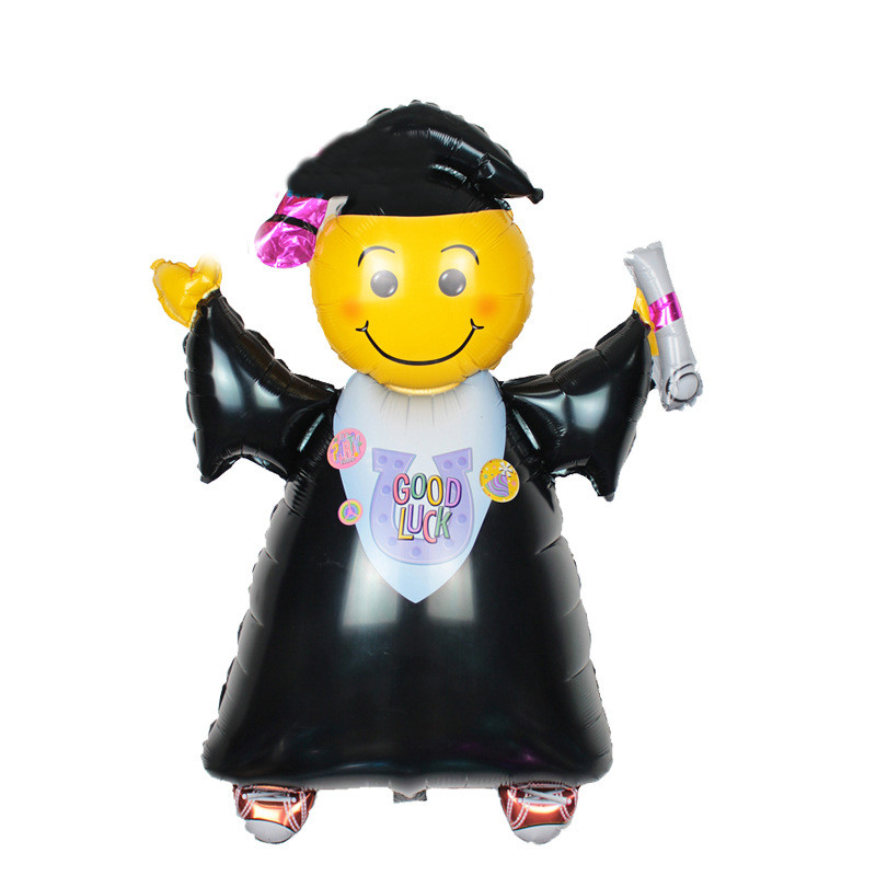 1pcs 40 inches Good Luck Graduated Doctor Foil Balloons Graduation Ceremony Party Decorations Helium Ballons Children Toys