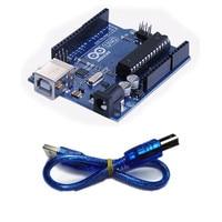 One Set New Development UNO R3 MEGA328P ATMEGA16U2 Board For Arduino With Cable