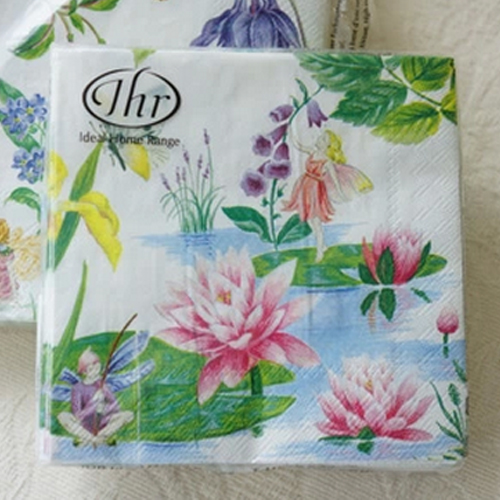 2 x decoupage paper napkins 2525cm 3 ply lotus flower paper napkins 2 x decoupage paper napkins 2525cm 3 ply lotus flower paper napkins for wedding ihr fairy garden paper napkins serviettes in event party from home mightylinksfo