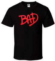 BAD Black T Shirt MJ Michael Jackson Kendrick Rocky A AP Music Hip Hop S 2XL