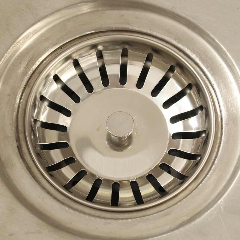 304ステンレス鋼キッチンシンクドレンストレーナストッパー排水栓シンクフィルター浴室ラウンド流域シンク水切りドレン