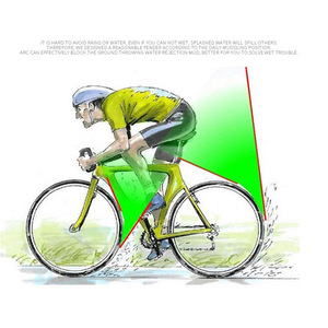 Image 3 - חדש פטנט 700*23 25C אופני מגן בץ אופניים לכביש אופני 14 16 20 INCH מתקפל אופני בוץ משמר Ultralight