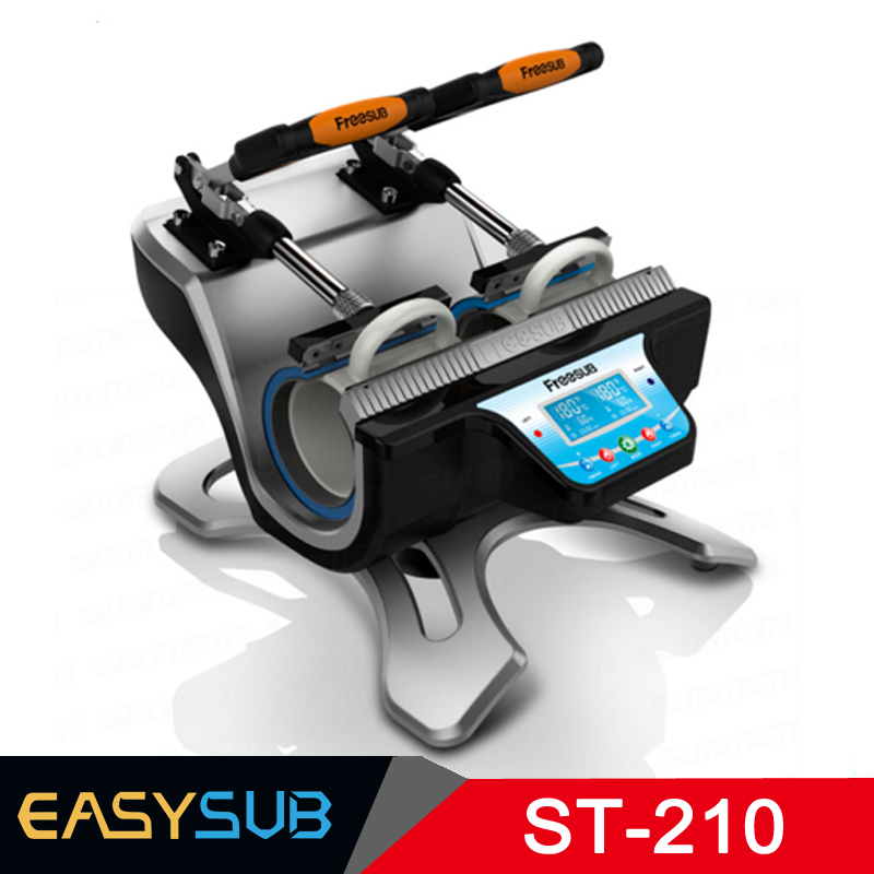 ST 210 Double Station Mug Press Machine Sublimation Heat Press Machine for Double 11oz Mugs Cups Printing at One Time
