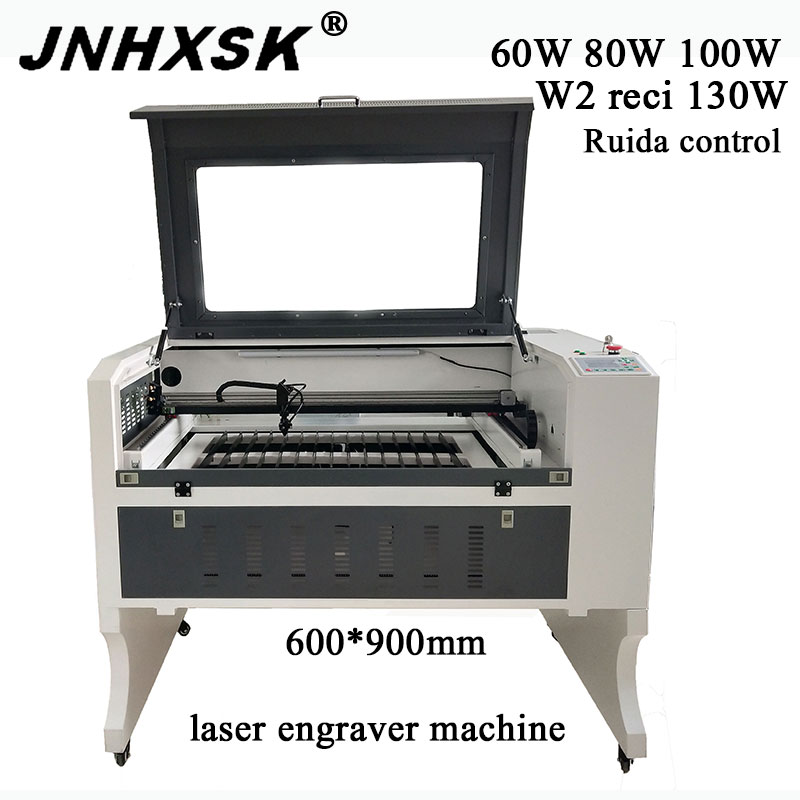 JNHXSK 80W Laser Engraver Machine 60W Cutting Machine Support Long Material 100w Co2 Laser Engraving Machine Ruida Control