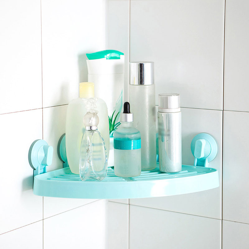 New Design Bathroom Storage Rack With Suction Shower Organizer Home Storage Plastic Bathroom