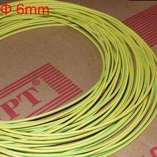 9 М 6 мм Диаметр 2:1 Двойной Цвет Линии Земля Кабель Огнестойкий Желто-Зеленый Желтый и Зеленый Тепла сокращение Термоусадочная Трубка Трубка