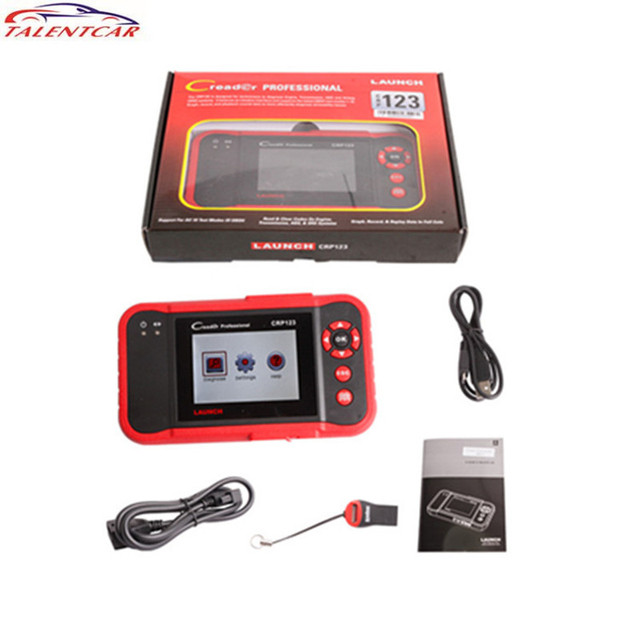 Best Offers 100% New LAUNCH Creader CRP123 Code Scanner Creader Support for Multi Brand Car Diagnostic Tool CRP 123 Creader 7 Car Scan Tool