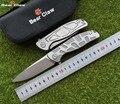 Складной нож в виде медведя F95  D2 лезвие  TC4Titanium ручка  для кемпинга  охоты  карманные фруктовые ножи  инструменты для повседневного использов...