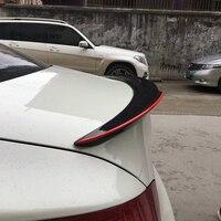 E90 изменение M4 Стиль углеродного волокна красная линия задний багажник спойлер автомобиля крыло для BMW E90 320i 325i 328i 2005 ~ 2012