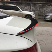 E90 Modified M4 Style Carbon Fiber Red Line Rear Trunk Luggage Compartment Spoiler Car Wing For BMW E90 320i 325i 328i 2005~2012