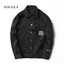ASALI Brand 2018 New Spring Bomber jacket Men Coats 7UP Letter Windbreaker Jackets Fashion Causal Slim Stand Collar Men's coat(China)