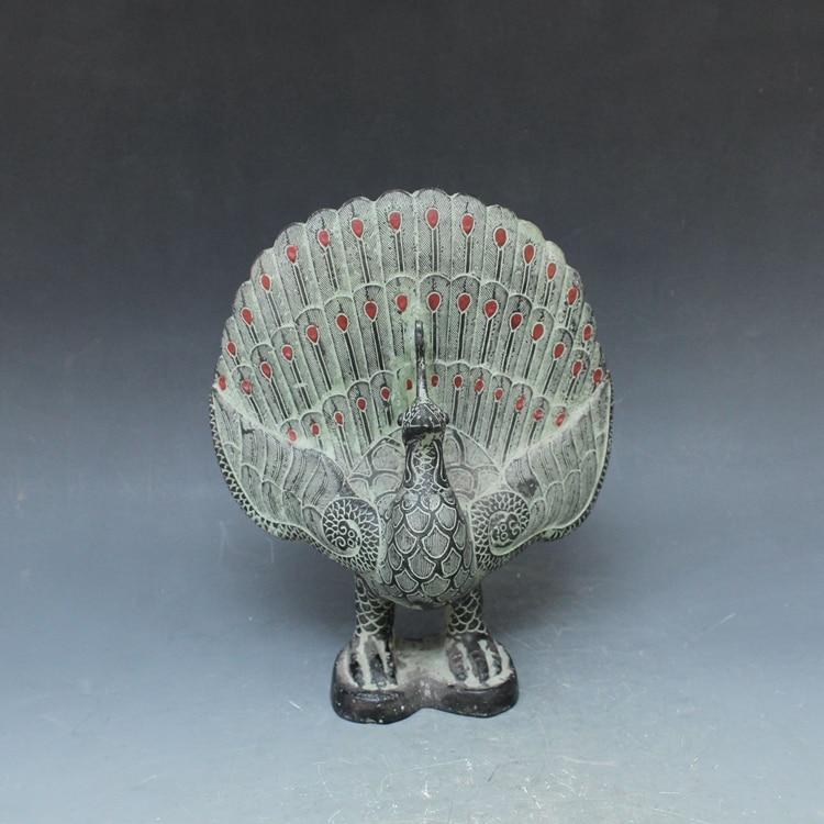 Antichi ornamenti in bronzo del pavone Arredamento Per La Casa decorazione CineseAntichi ornamenti in bronzo del pavone Arredamento Per La Casa decorazione Cinese