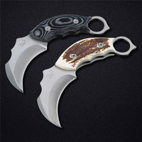 Brand New CLaw Blade Stainless Steel AUS 8A 59HRC Scorpion Claw Hawk Claw Knife Hunting Knife