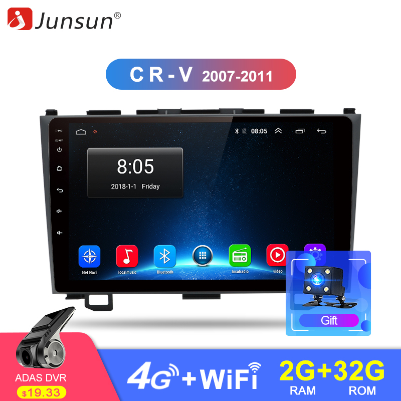 Junsun 2G+32G Android 8.1 4G Car Radio Multimedia Audio Player Navi GPS 2 Din For Honda CRV CR-V 3 2006 2007 2008 2009 -2011 DVD