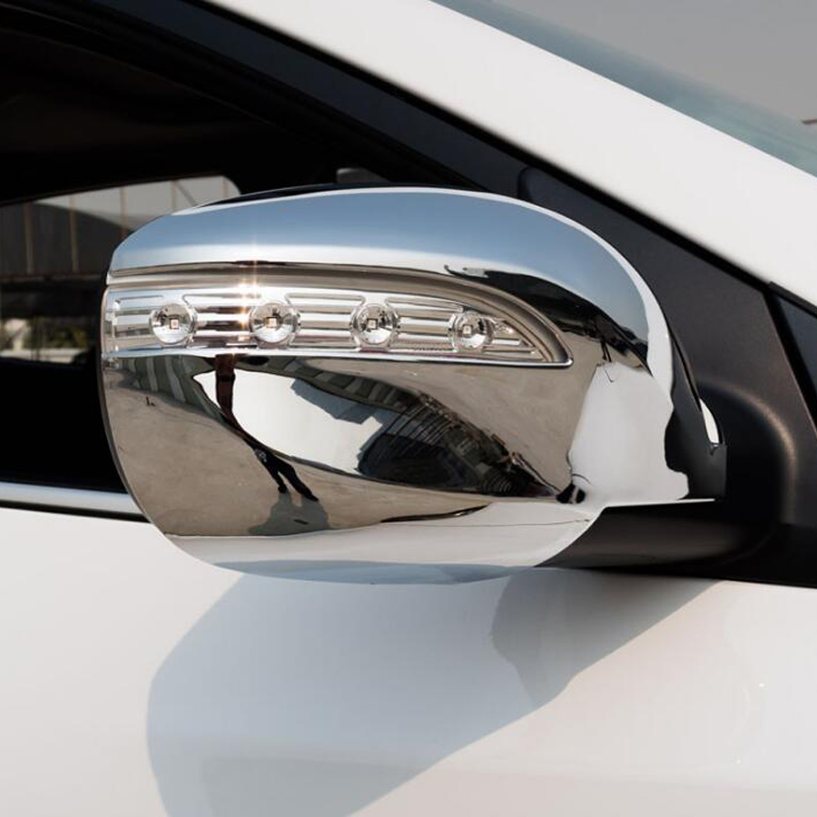 YAQUICKA ABS Chrome Car Exterior Rearview Rear View Mirror Cover Trim Styling Sticker For Hyundai IX35 2010 2015 Accessories