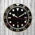 Increíble Reloj de Oro Marca de Lujo Reloj de Pared Moderno Diseño de Barrido Silencioso Reloj saat reloj de Pared rlx