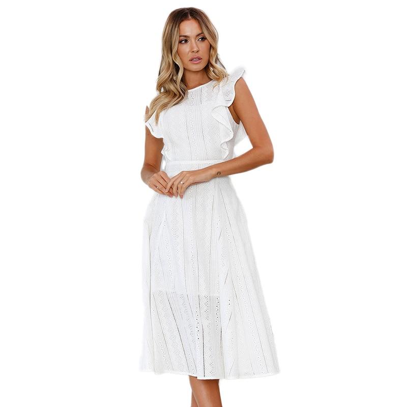 Aliexpress.com : Buy Cotton Summer Dress Sleeveless White ...