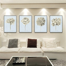 Europe Flower Abstract Print Home Decor Poster Nordic Canvas Painting Living Room Bedroom Office Wall Picture Art Backdrop Decor