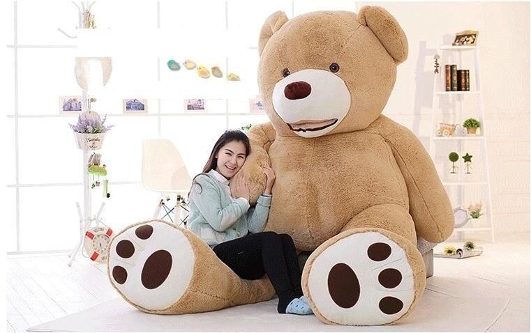 Cheap 340CM huge giant stuffed teddy bear big large huge brown plush soft toy kid children doll girl Birthday Christmas gift - 3